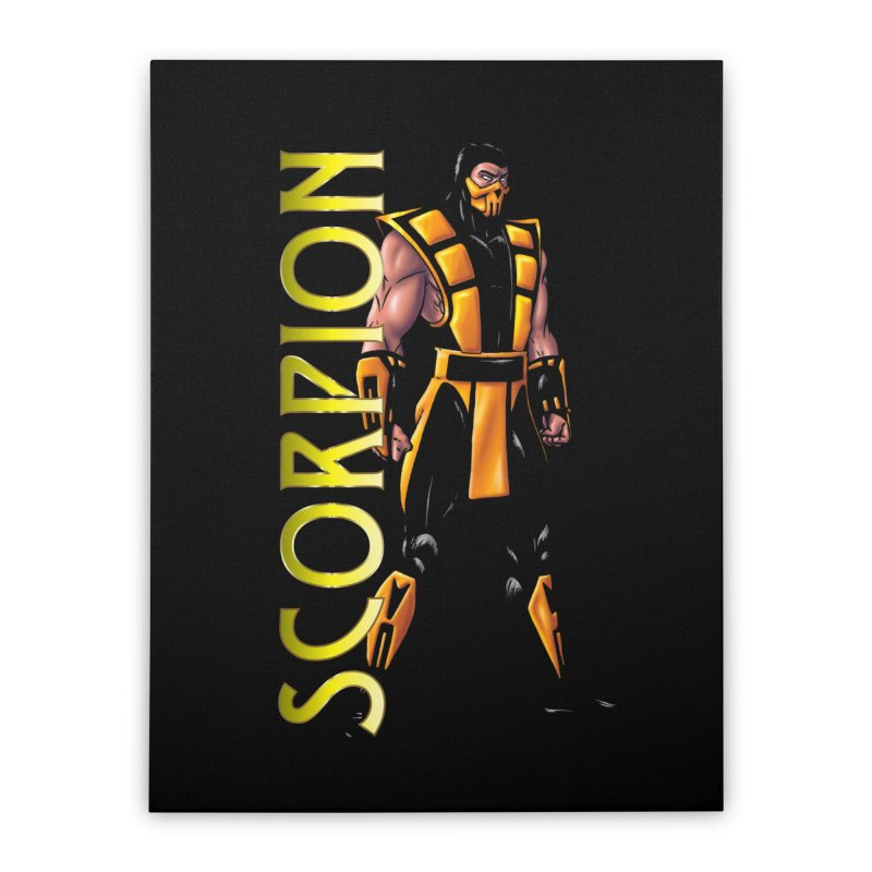 UMK3 Scorpion Home Stretched Canvas by DVCustoms's Artist Shop