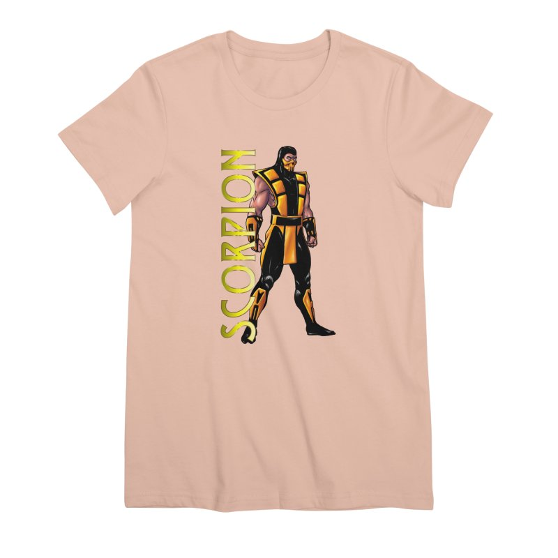 UMK3 Scorpion Women's Premium T-Shirt by DVCustoms's Artist Shop