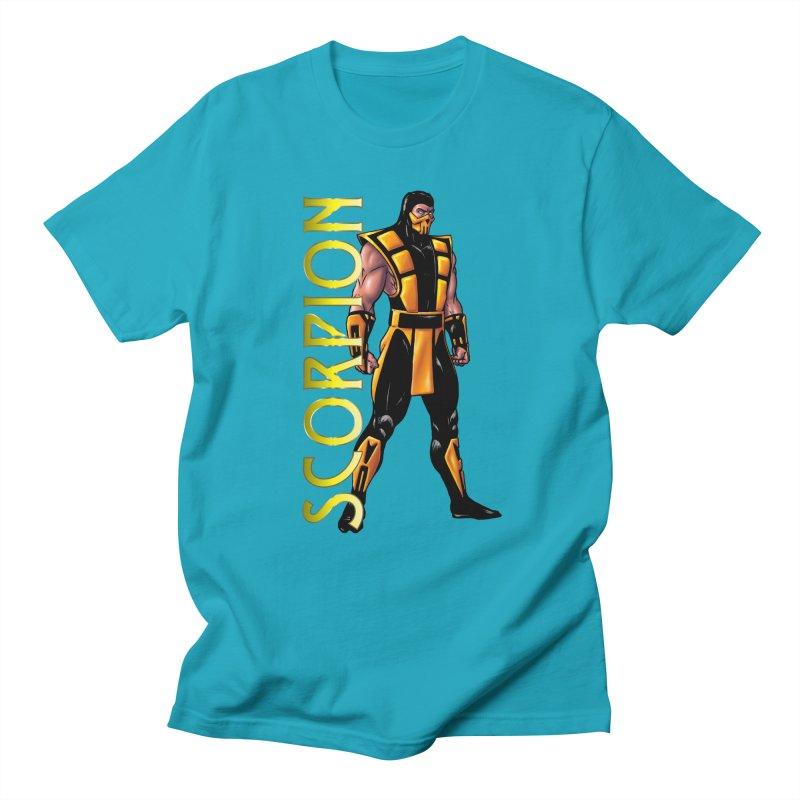 UMK3 Scorpion Men's Regular T-Shirt by DVCustoms's Artist Shop