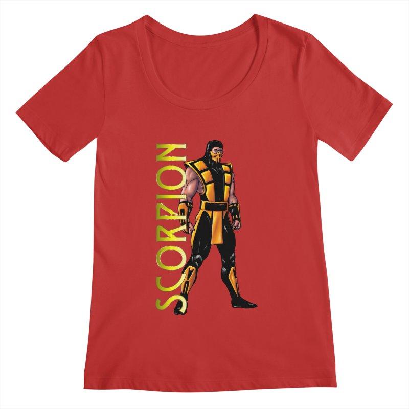 UMK3 Scorpion Women's Regular Scoop Neck by DVCustoms's Artist Shop