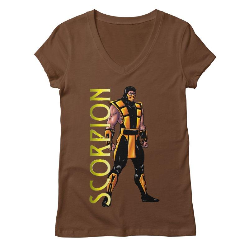 UMK3 Scorpion Women's Regular V-Neck by DVCustoms's Artist Shop