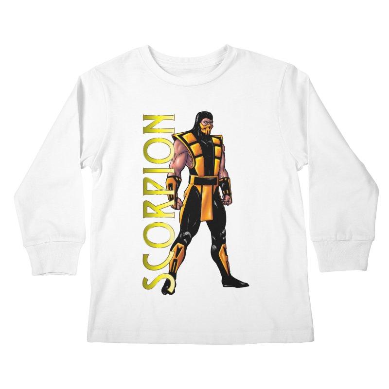 UMK3 Scorpion Kids Longsleeve T-Shirt by DVCustoms's Artist Shop