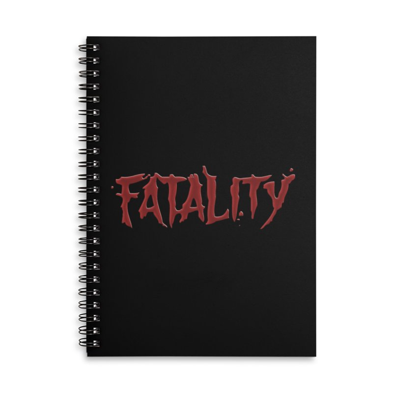 Fatality Accessories Lined Spiral Notebook by DVCustoms's Artist Shop