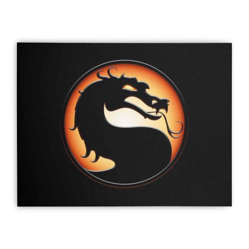 Mortal Kombat Dragon Home Stretched Canvas by DVCustoms's Artist Shop