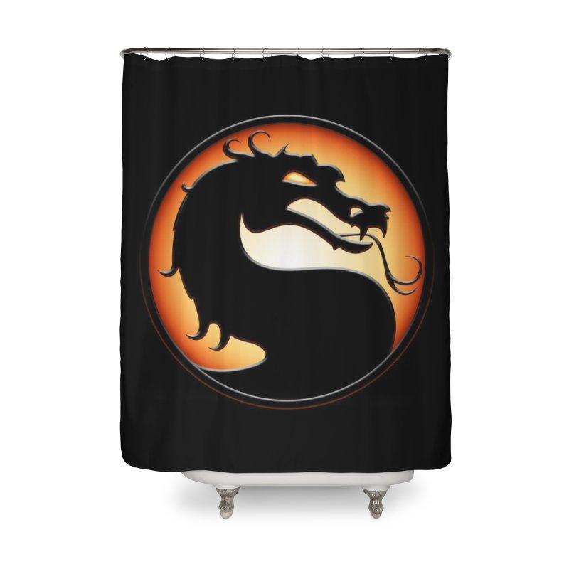 Mortal Kombat Dragon Home Shower Curtain by DVCustoms's Artist Shop
