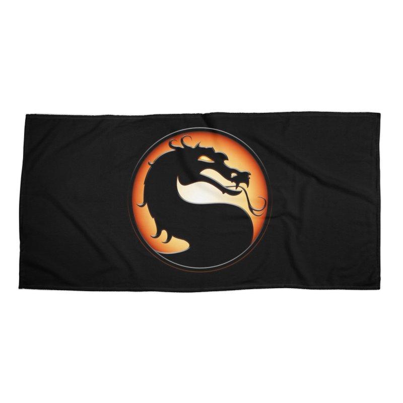Mortal Kombat Dragon Accessories Beach Towel by DVCustoms's Artist Shop
