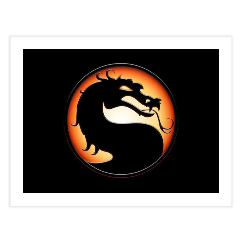 Mortal Kombat Dragon Home Fine Art Print by DVCustoms's Artist Shop