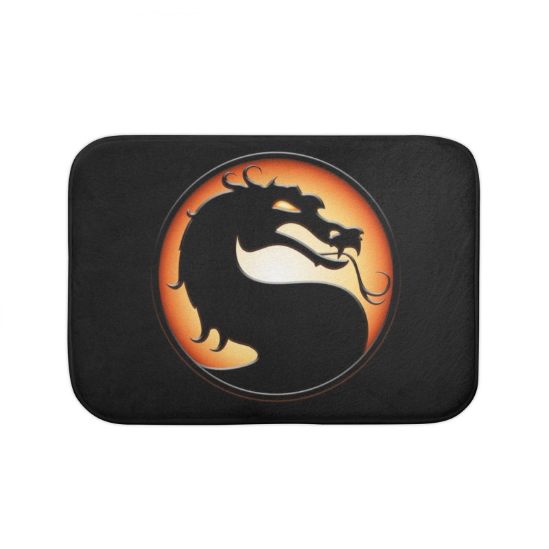 Mortal Kombat Dragon Home Bath Mat by DVCustoms's Artist Shop