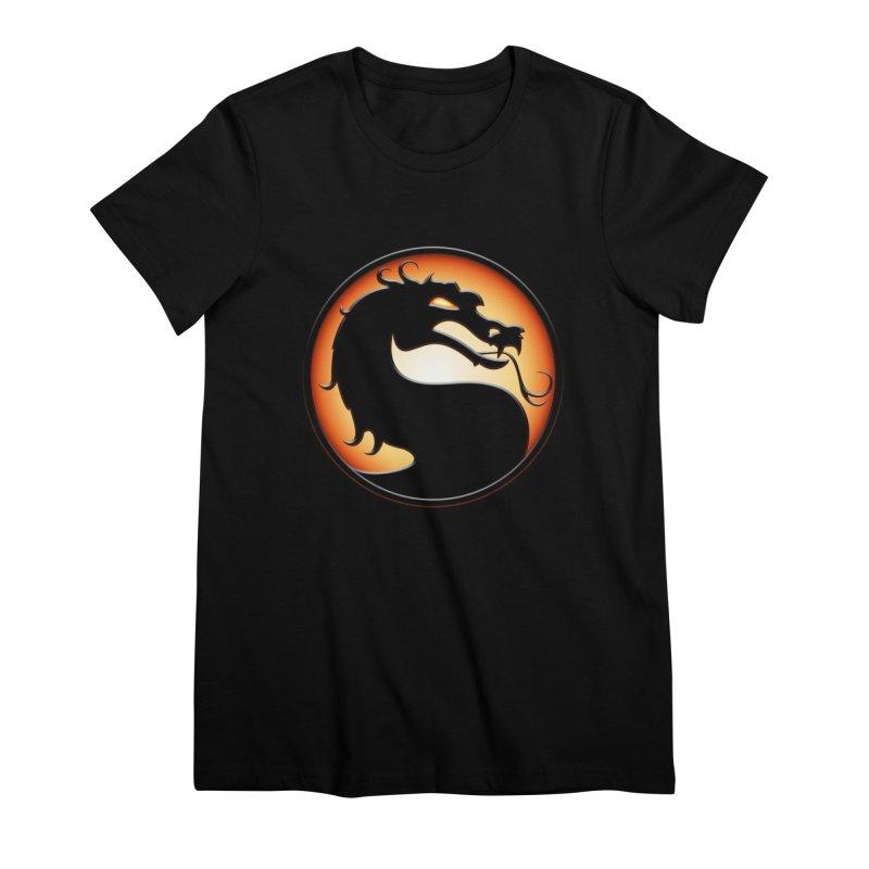 Mortal Kombat Dragon Women's Premium T-Shirt by DVCustoms's Artist Shop