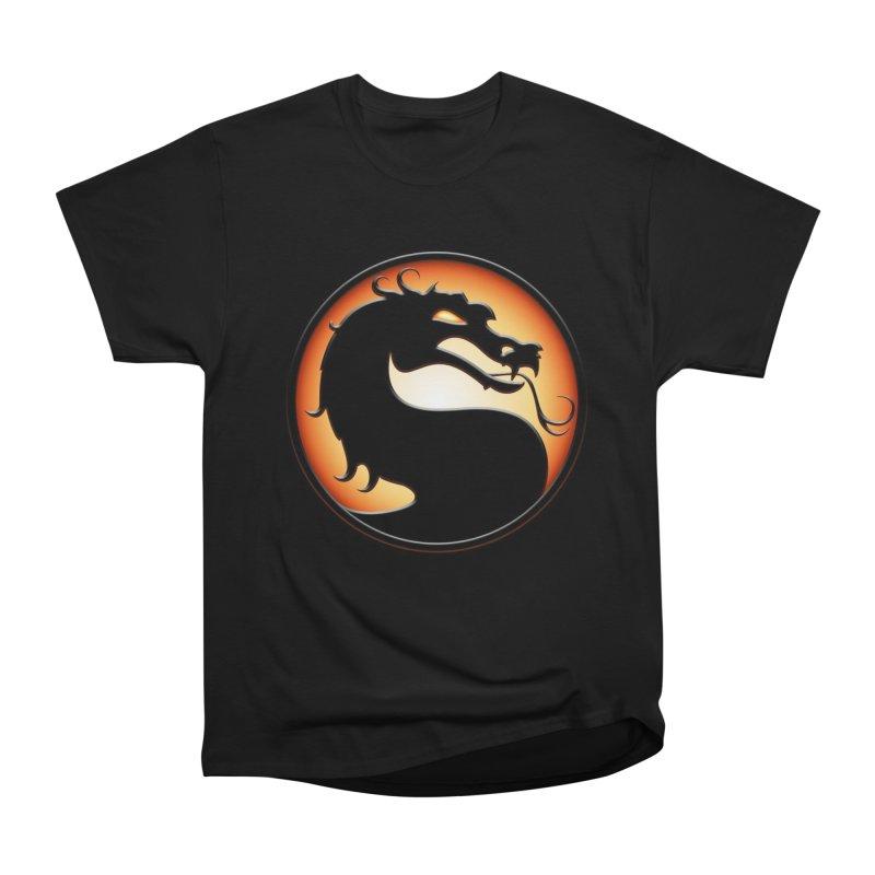 Mortal Kombat Dragon Men's Heavyweight T-Shirt by DVCustoms's Artist Shop