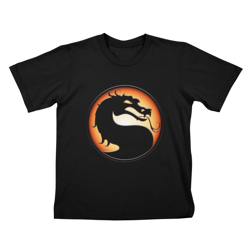 Mortal Kombat Dragon Kids T-Shirt by DVCustoms's Artist Shop