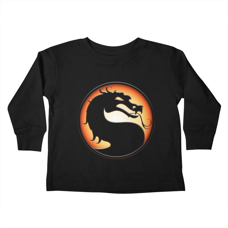 Mortal Kombat Dragon Kids Toddler Longsleeve T-Shirt by DVCustoms's Artist Shop