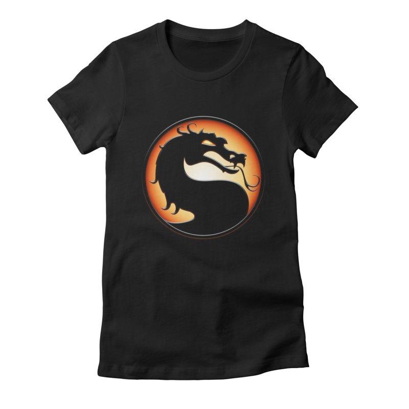 Mortal Kombat Dragon Women's Fitted T-Shirt by DVCustoms's Artist Shop