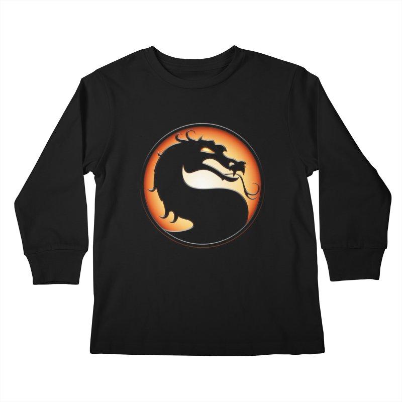 Mortal Kombat Dragon Kids Longsleeve T-Shirt by DVCustoms's Artist Shop