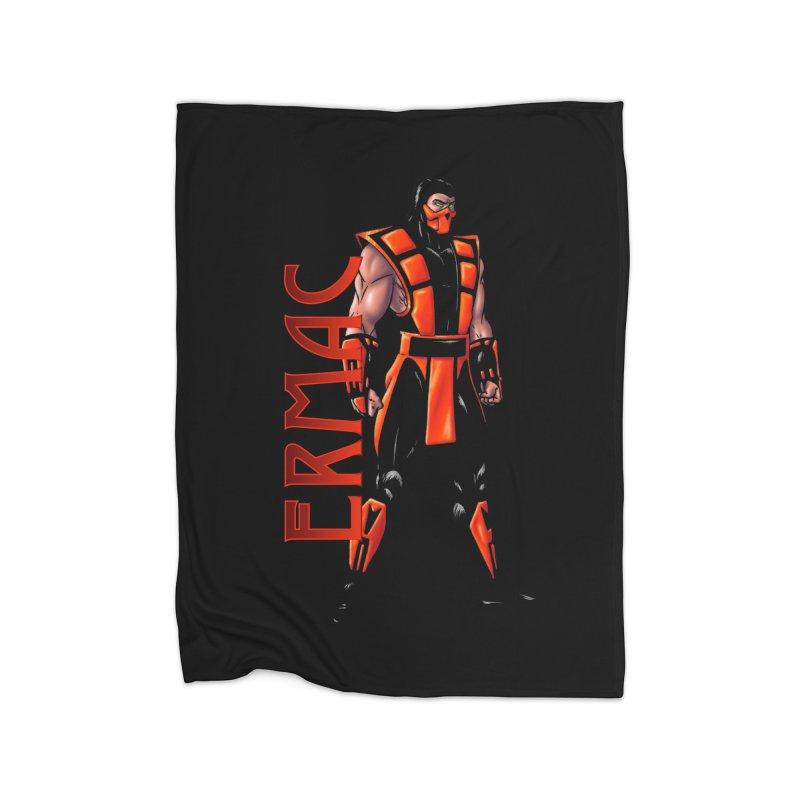 UMK3 Ermac Home Fleece Blanket Blanket by DVCustoms's Artist Shop