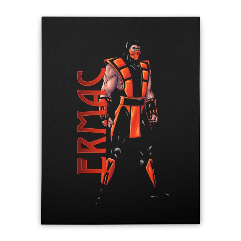 UMK3 Ermac Home Stretched Canvas by DVCustoms's Artist Shop