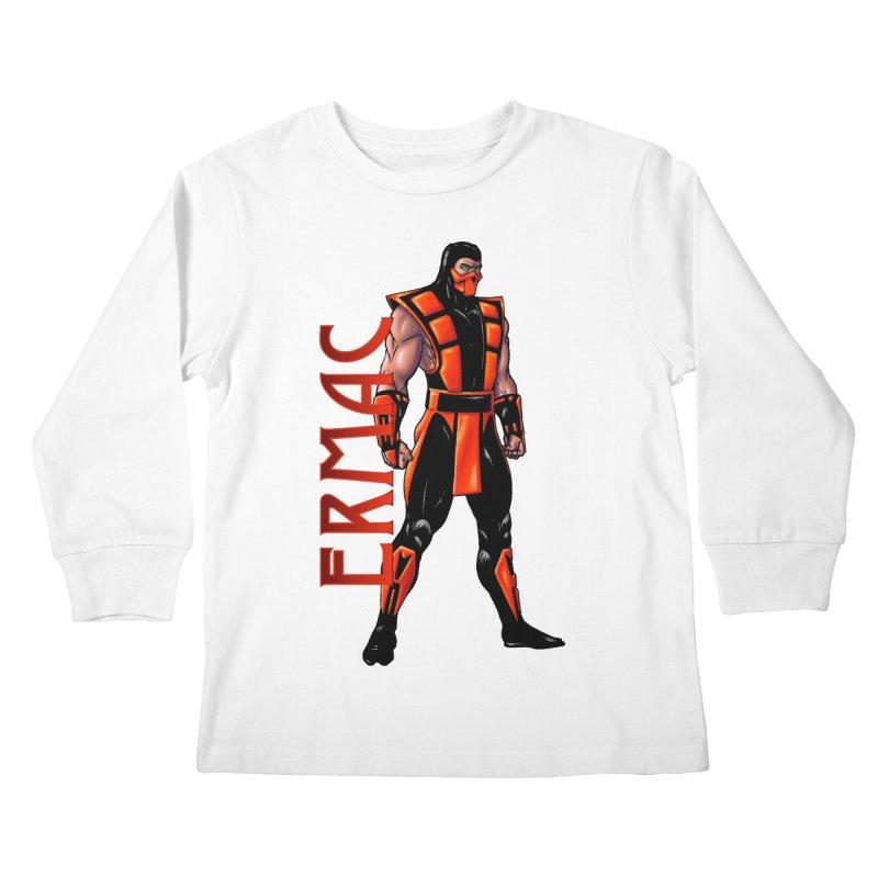 UMK3 Ermac Kids Longsleeve T-Shirt by DVCustoms's Artist Shop