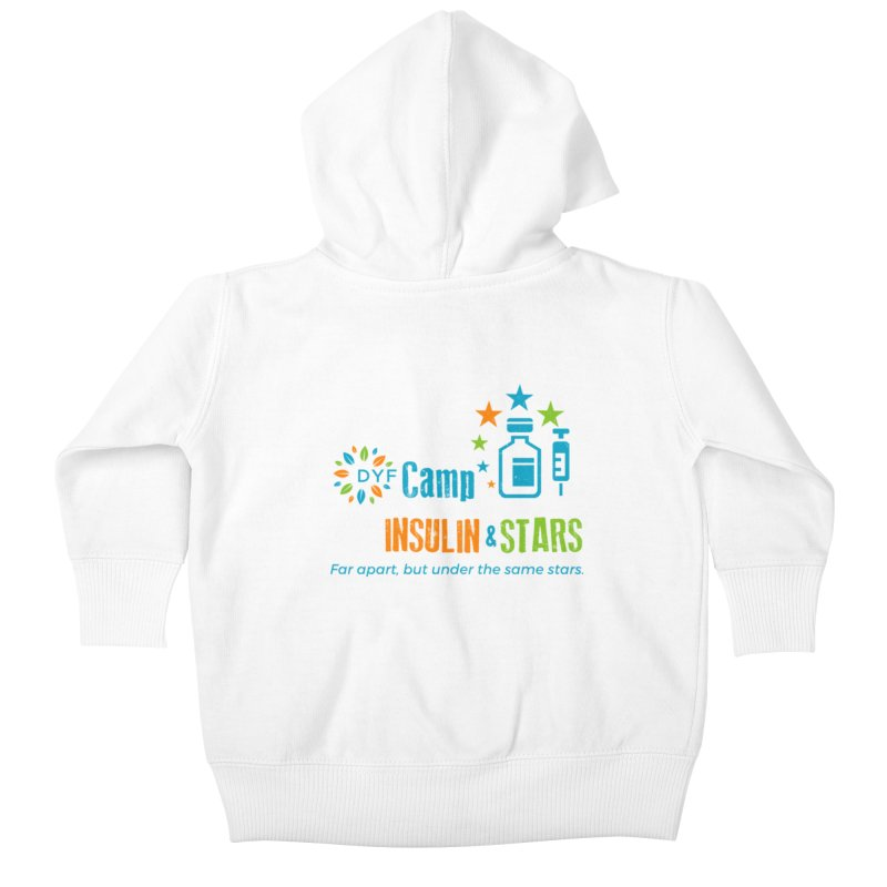 Camp Insulin & Stars Kids Baby Zip-Up Hoody by DYF Merchandise