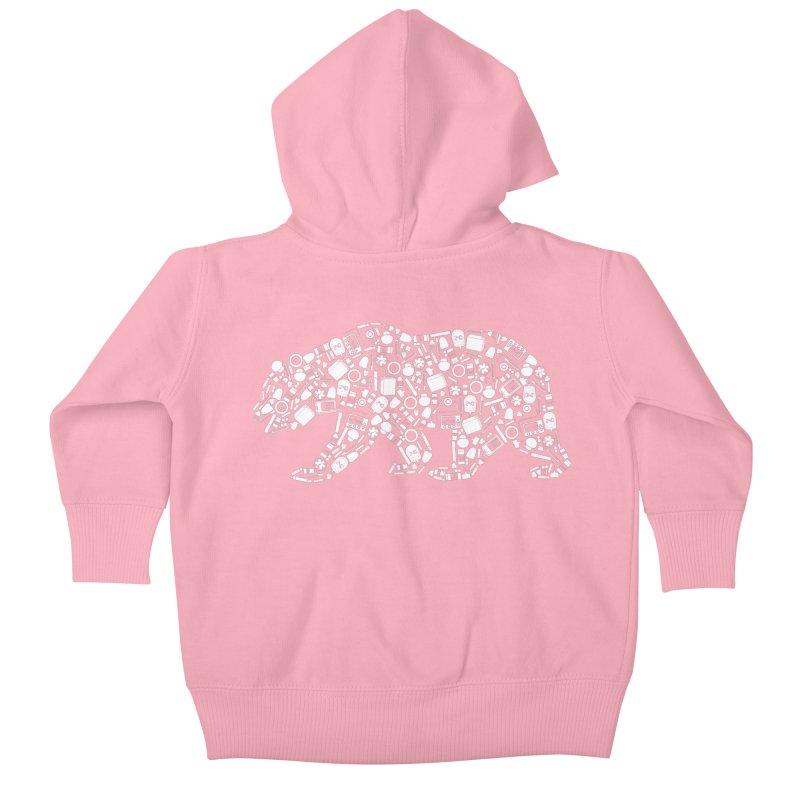Diabetes Supply Bear Kids Baby Zip-Up Hoody by DYF Merchandise