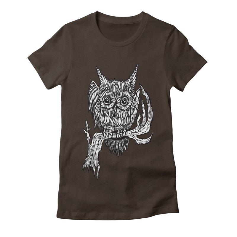 Owlie Women's Fitted T-Shirt by DaNkJiMz