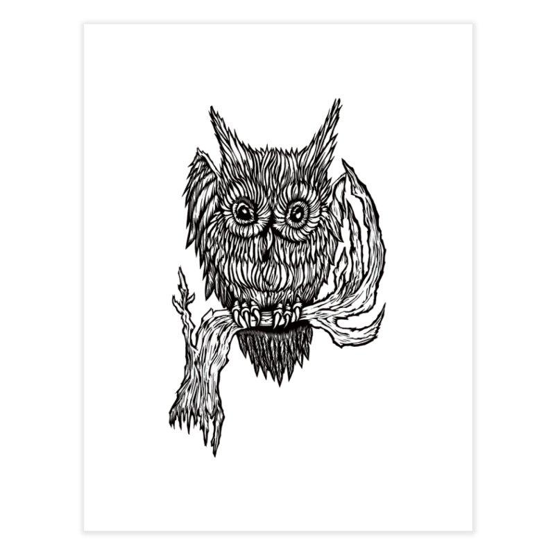 Owlie Home Fine Art Print by DaNkJiMz