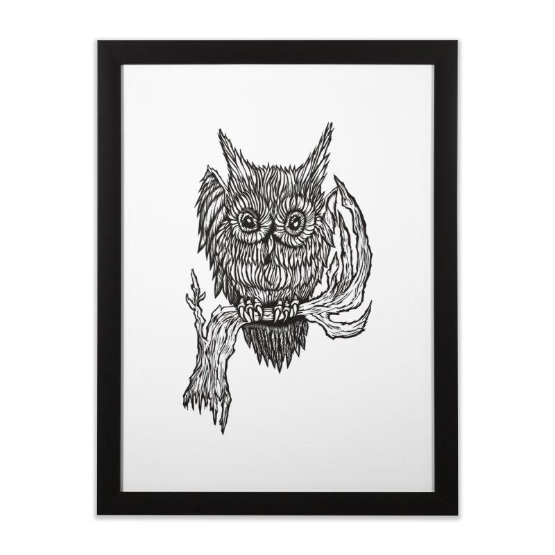 Owlie Home Framed Fine Art Print by DaNkJiMz