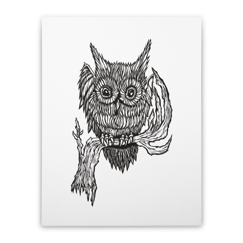 Owlie Home Stretched Canvas by DaNkJiMz