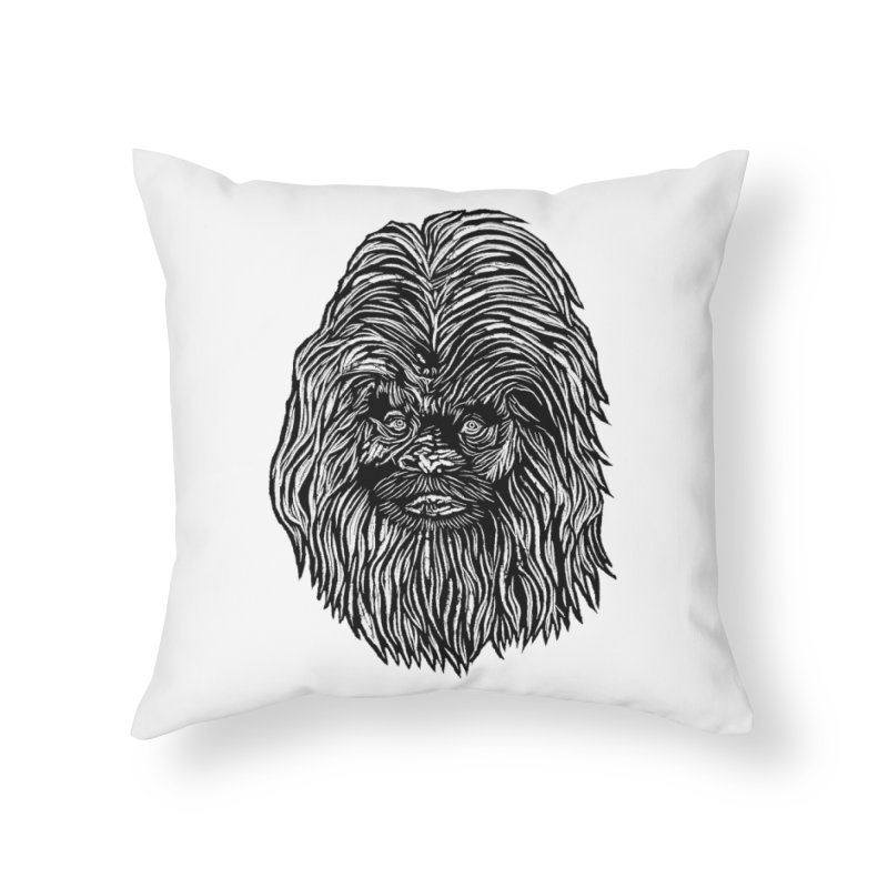 Sasquatch Home Throw Pillow by DaNkJiMz