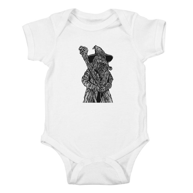 Gandalf Kids Baby Bodysuit by DaNkJiMz
