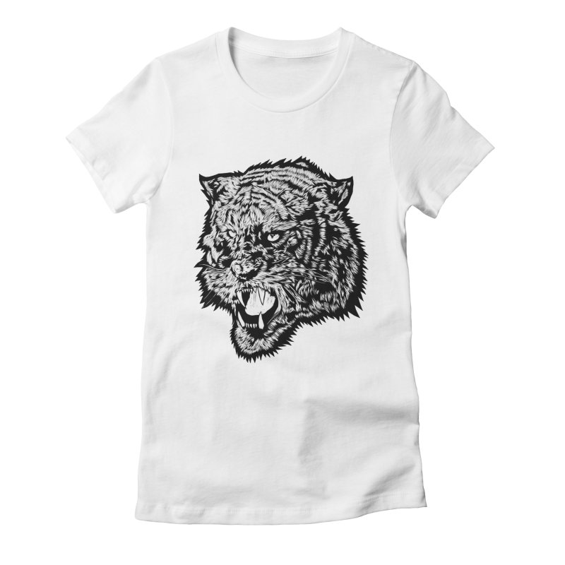 Tiger Women's Fitted T-Shirt by DaNkJiMz
