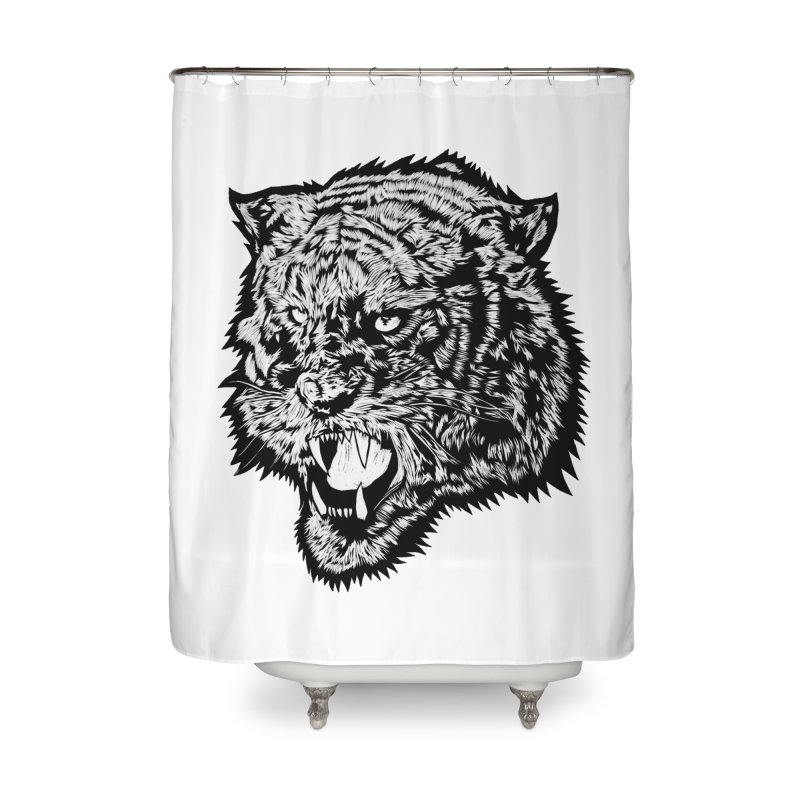 Tiger Home Shower Curtain by DaNkJiMz