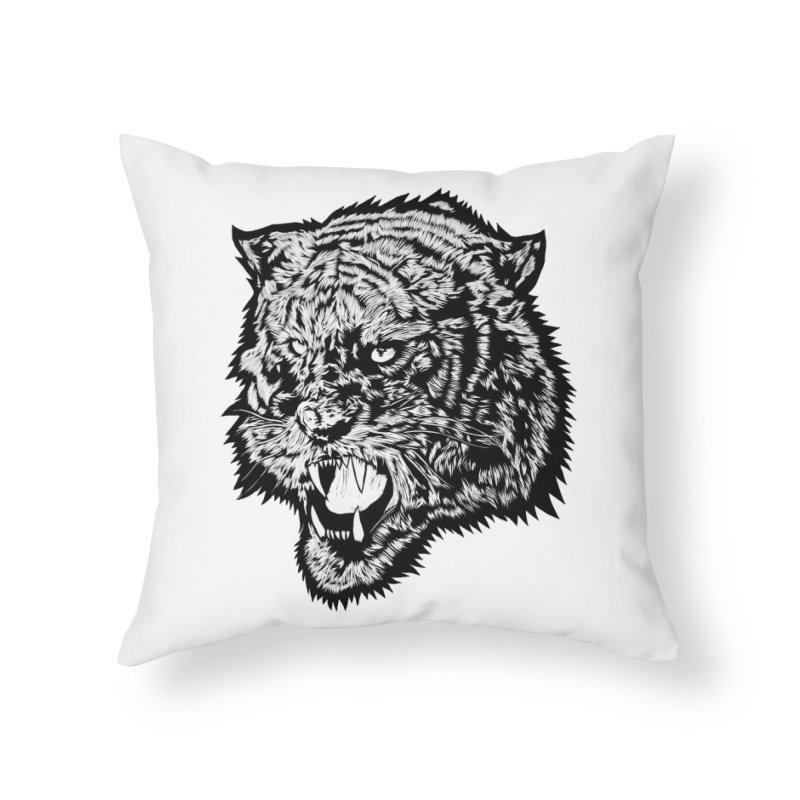 Tiger Home Throw Pillow by DaNkJiMz