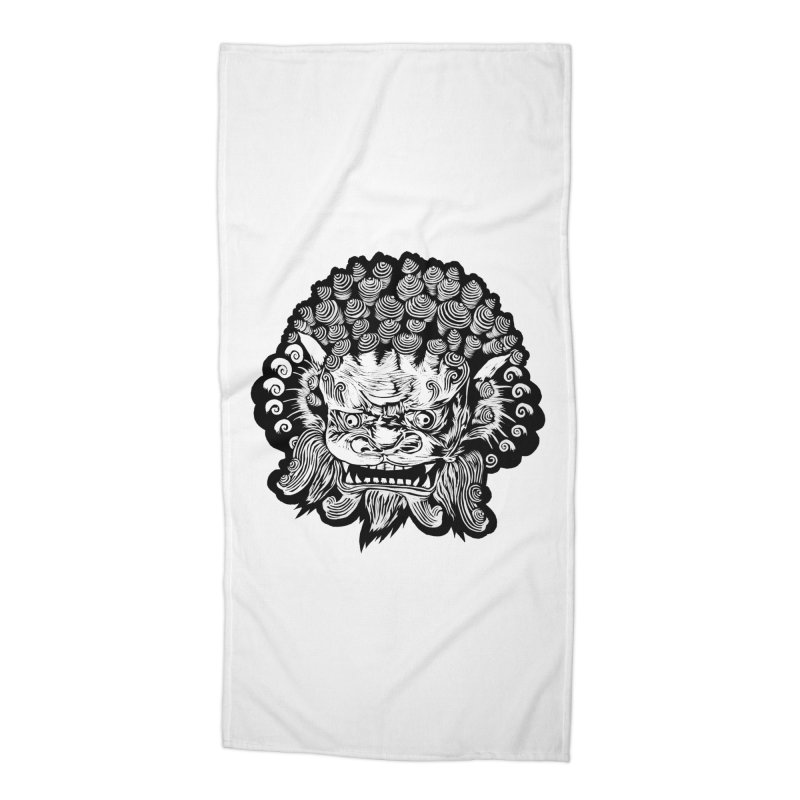 Foo Dog Accessories Beach Towel by DaNkJiMz