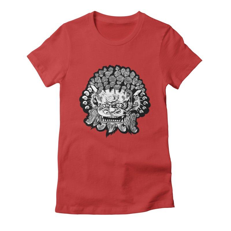Foo Dog Women's Fitted T-Shirt by DaNkJiMz