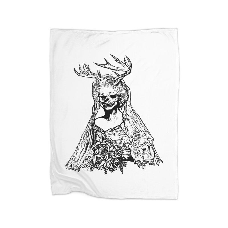 Skeleton bride Home Blanket by DaNkJiMz