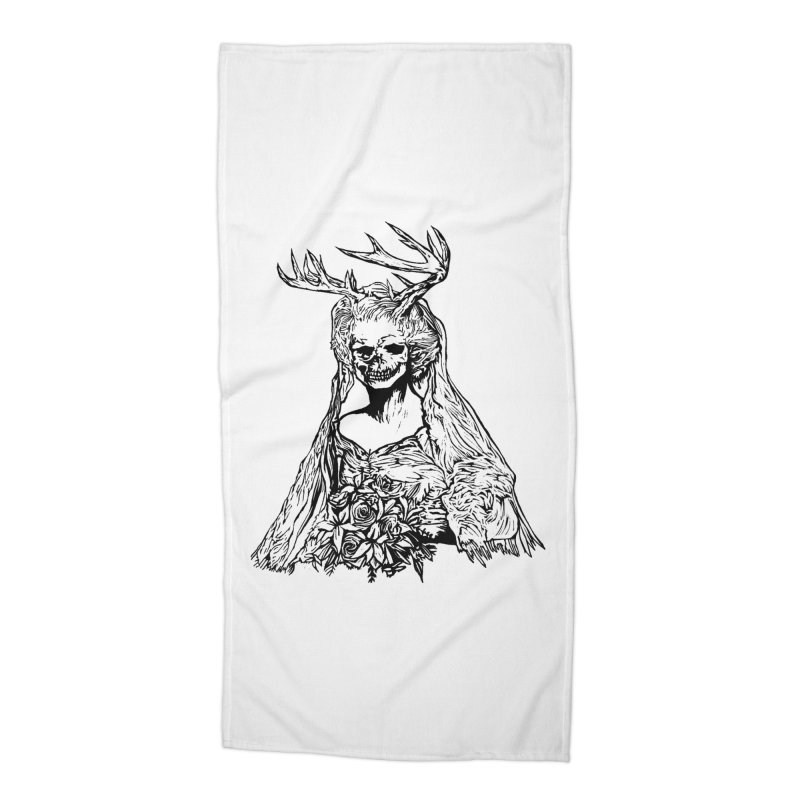 Skeleton bride Accessories Beach Towel by DaNkJiMz