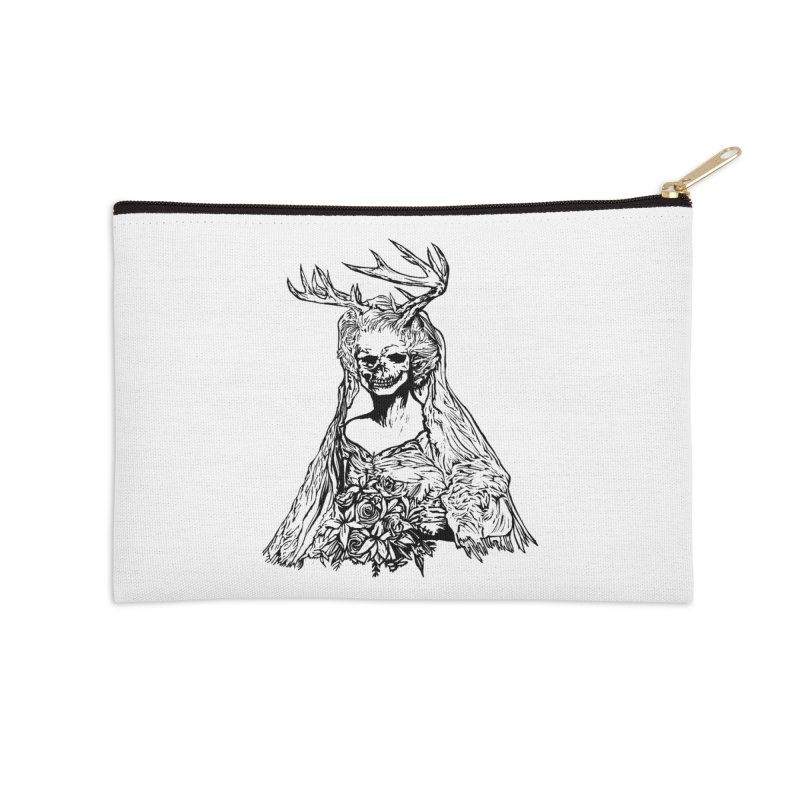 Skeleton bride Accessories Zip Pouch by DaNkJiMz