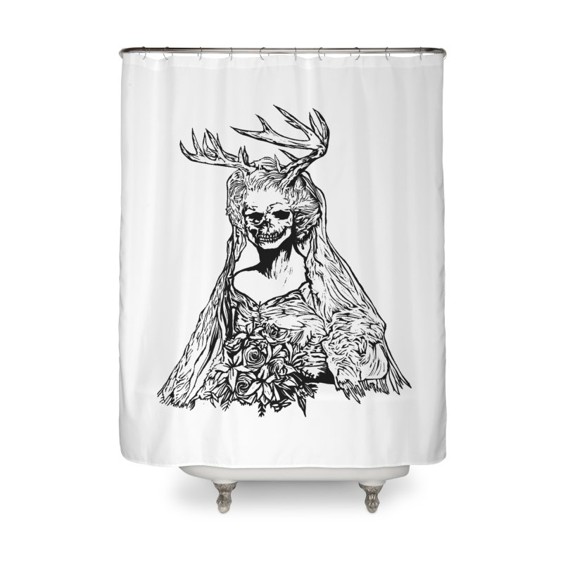 Skeleton bride Home Shower Curtain by DaNkJiMz
