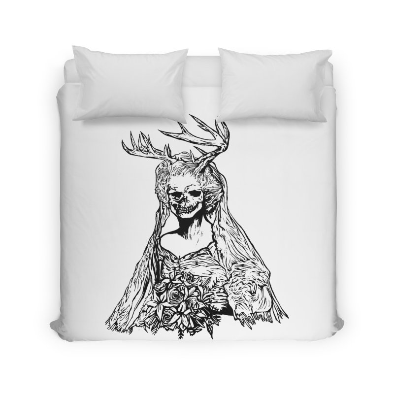 Skeleton bride Home Duvet by DaNkJiMz