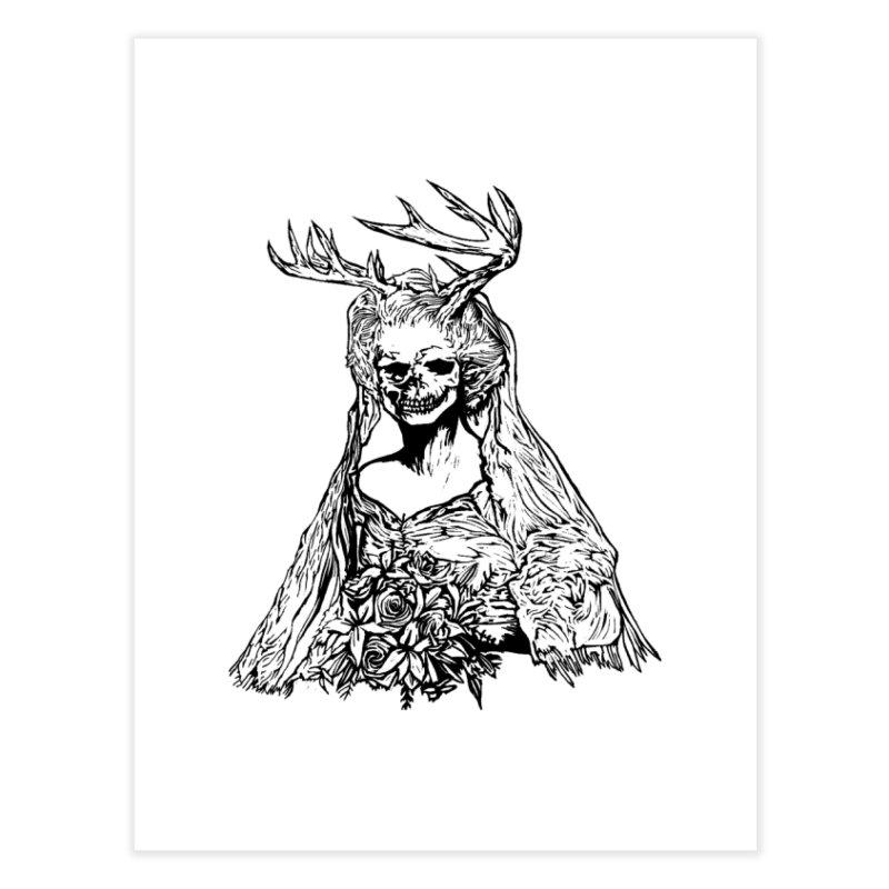 Skeleton bride Home Fine Art Print by DaNkJiMz