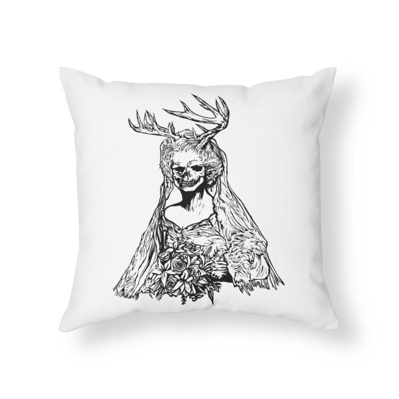 Skeleton bride Home Throw Pillow by DaNkJiMz