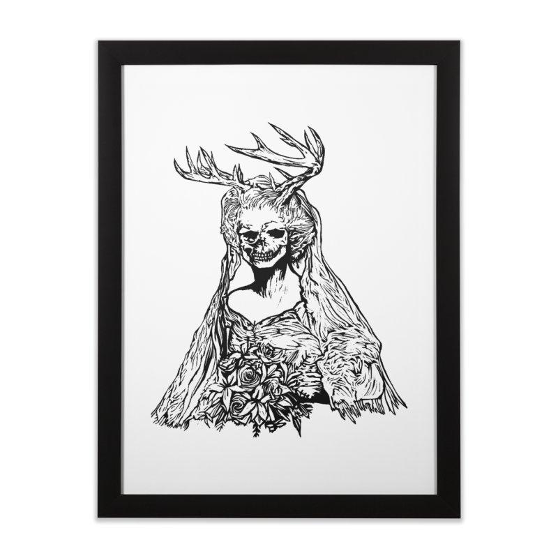Skeleton bride Home Framed Fine Art Print by DaNkJiMz