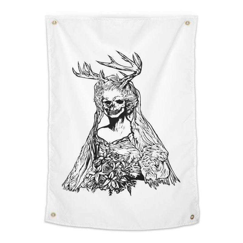 Skeleton bride Home Tapestry by DaNkJiMz
