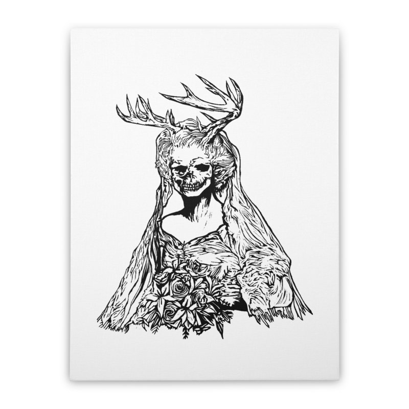 Skeleton bride Home Stretched Canvas by DaNkJiMz