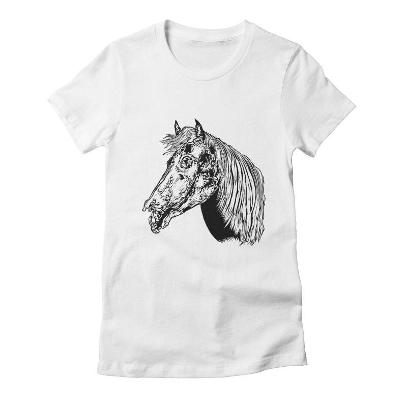 Zombie Horse Women's Fitted T-Shirt by DaNkJiMz