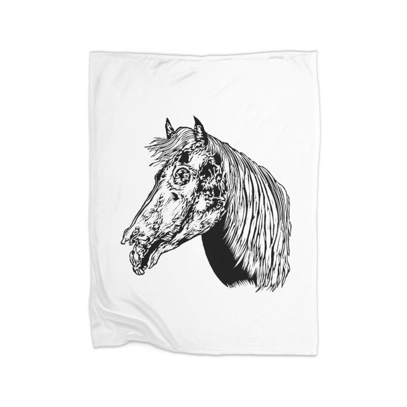 Zombie Horse Home Blanket by DaNkJiMz