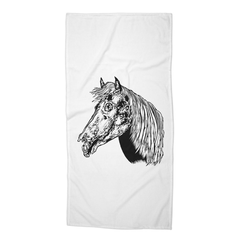 Zombie Horse Accessories Beach Towel by DaNkJiMz