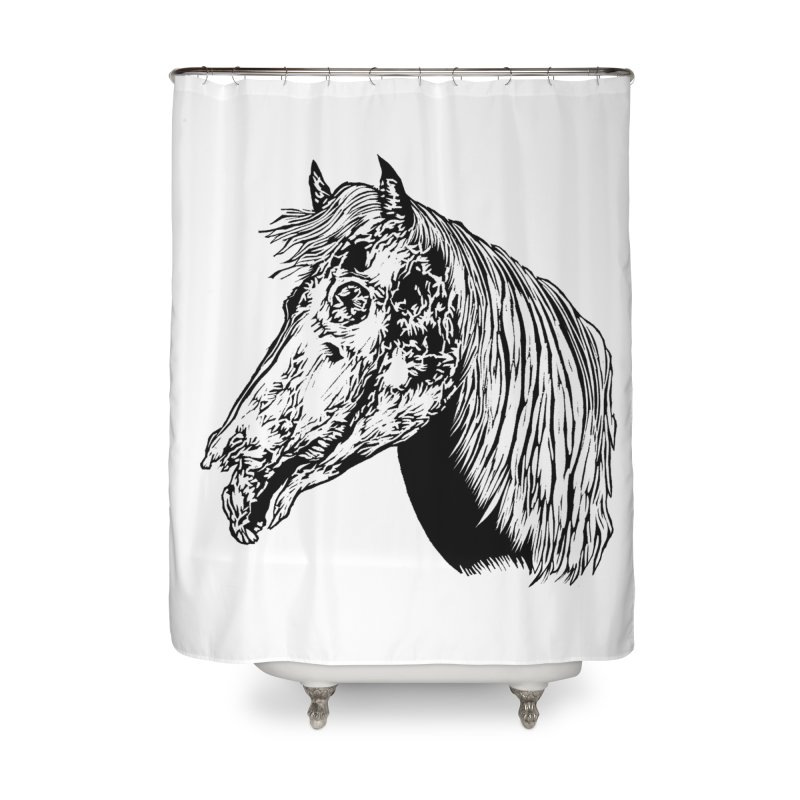 Zombie Horse Home Shower Curtain by DaNkJiMz