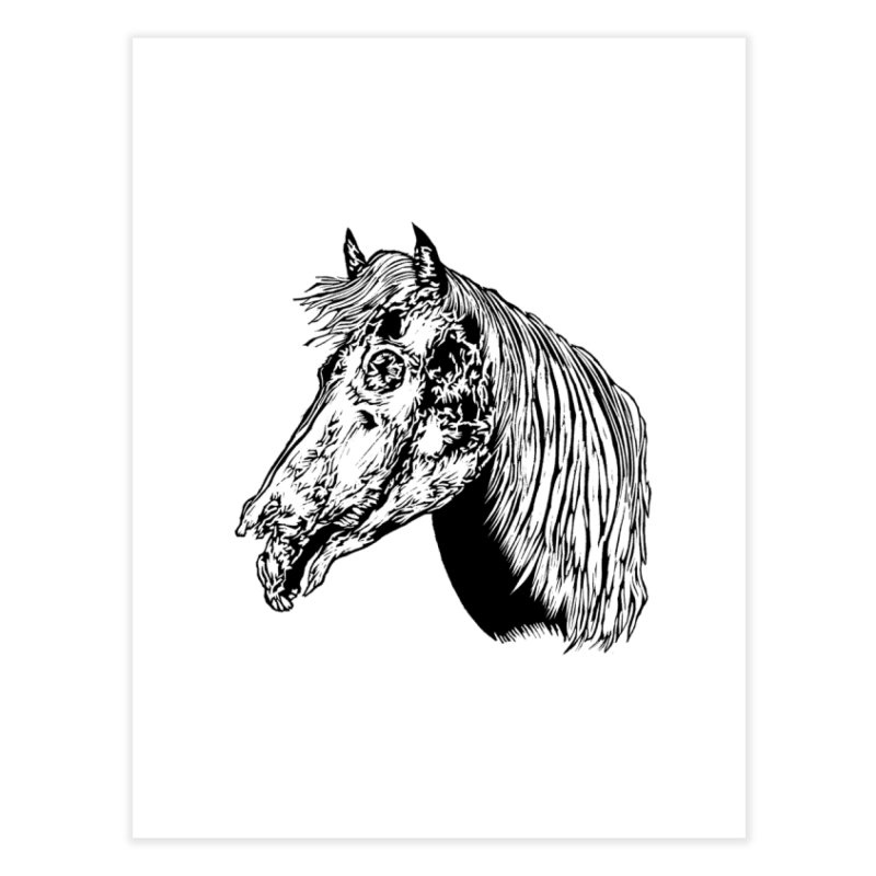 Zombie Horse Home Fine Art Print by DaNkJiMz