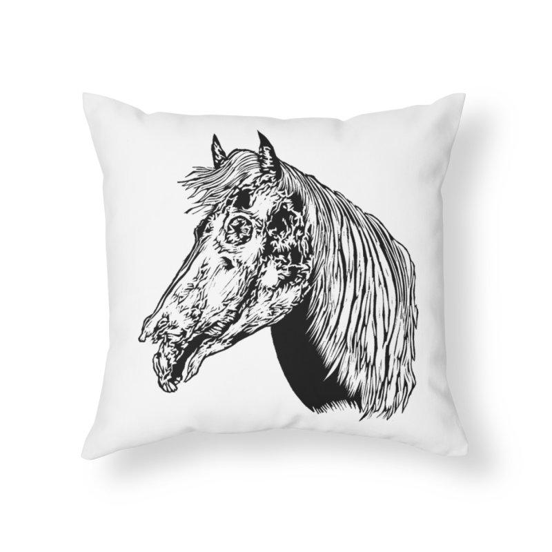 Zombie Horse Home Throw Pillow by DaNkJiMz